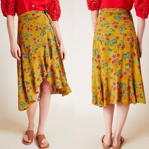 Faithfull the Brand x Anthro Tramonti Wrap Skirt S